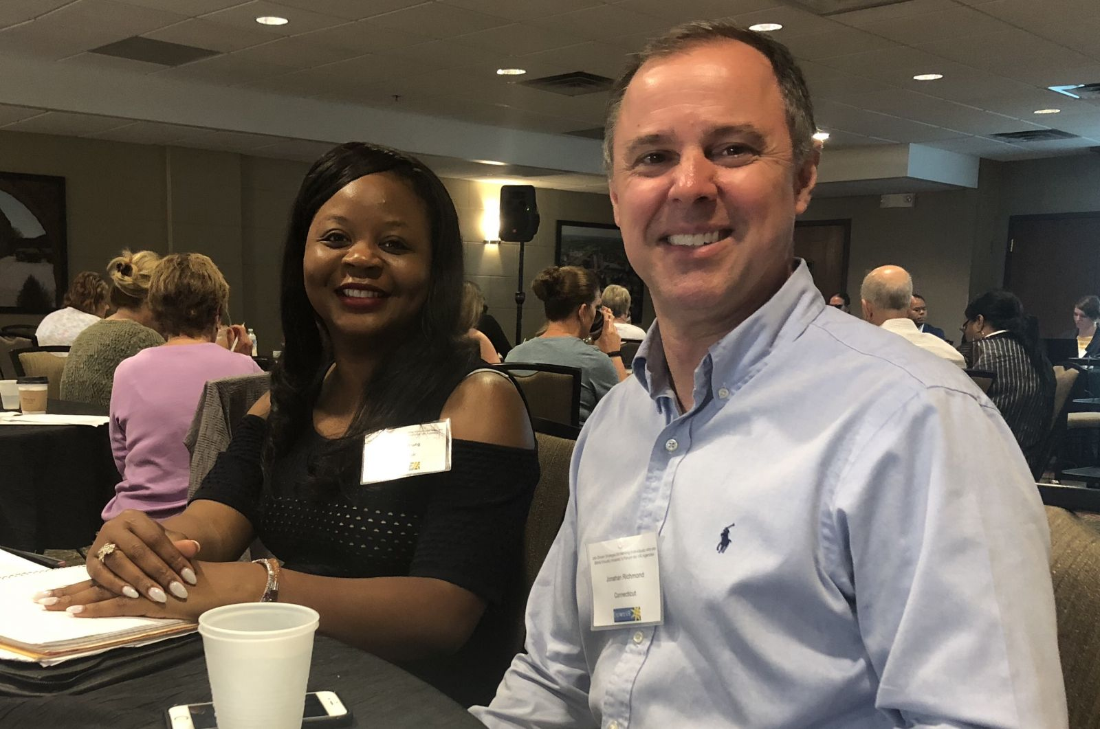Dorothy Young, Director of Mississippi VR Services for the Blind and Jonathan Richmond, Employment Consultant from Connecticut Bureau of Education and Services for the Blind